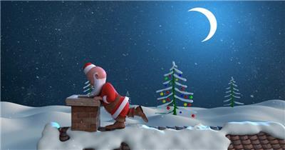 YM3970圣诞老人节日庆典视频 庆祝视频节日视频