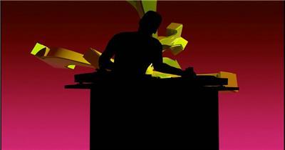 dj_silouette_2_hd酒吧娱乐夜场素材 酒吧视频 dj舞曲 夜店视频