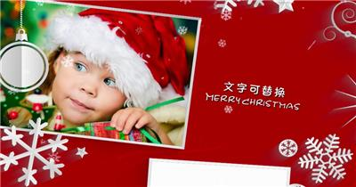 ED白色剪纸圣诞节 EDIUS模板 圣诞节 EDIUS素材 节日模版