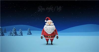 AE:AE三维圣诞老人卡通动画 AE模板资源站17
