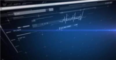 8120 蓝色科技感界面动画元素 AE模板素材 ae素材下载 科技元素 科技ae模版