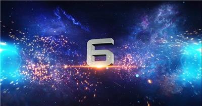 AE:史诗粒子倒计时 ae素材 免费下载17 大气 电影特效ae素材