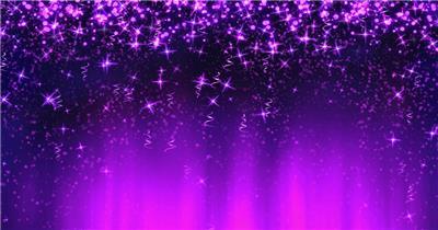 流星雨瀑布粒子喜庆紫色 婚庆婚礼背景 婚庆婚礼