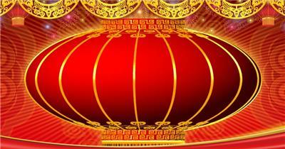 YM0532春晚大红灯笼喜庆-新年春节元旦视频