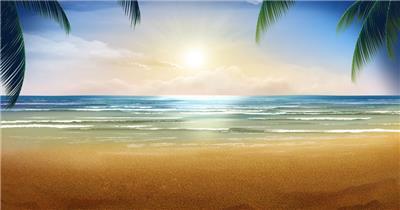 YM1405夏日海滩美景--亮亮图文旗舰店
