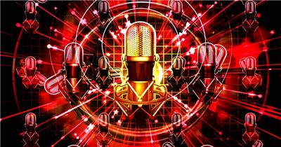 A256-动感音乐话筒节奏 酒吧夜店 酒吧视频 dj舞曲 夜店视频