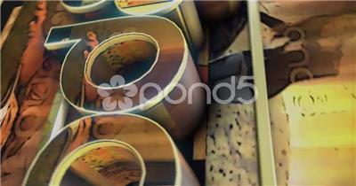 AE: 三维纹理翻页标志 AE模板素材下载15 logo标志ae动画模版 标志动画