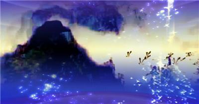 -夜色明月荷花款Y6501中国风古典舞荷花牡丹月亮开场舞有音乐 led视频素材库