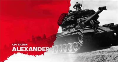 AE:血色战争纪录片标题 ae视频素材17