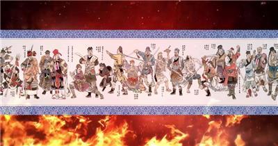 -古代战争系列款Y6629好汉歌水浒中国风古代战争有音乐 led视频素材库