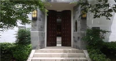 -古代建筑庭院款Y7442古代建筑大气开门 led视频素材库