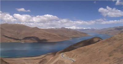 A069-西藏风情天路中国风拉萨藏族歌舞 中国风视频 背景视频