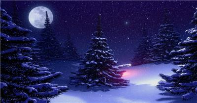 -圣诞节系列款Y3225飘雪下雪梦幻粒子圣诞树 led视频素材库
