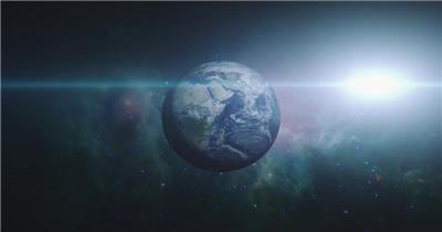 高清视频素材 宇宙中的地球个EarthZoomOutHIPSTER