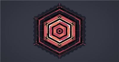 edius蜂窝状六边形几何图形展示LOGO模板 edius模板免费下载 edius源文件