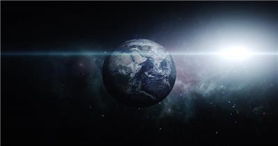 高清视频素材 宇宙中的地球个EarthZoomOutDRAATIC