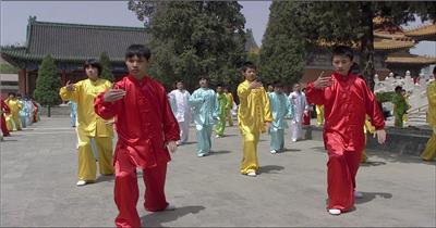 0280-众人打太极 中国特色类中国实拍视频素材 视频下载中国实拍