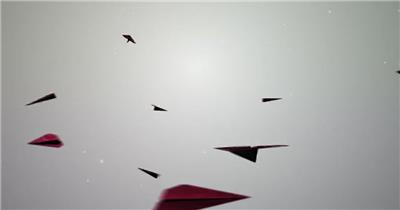AE:纸飞机水墨标志展示模板 ae素材15 水墨ae模版 中国元素ae 水墨ae动画视频