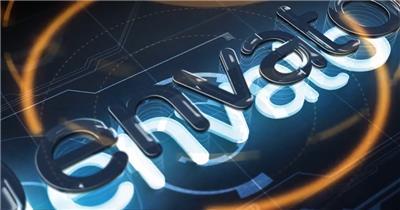 11741 三维高科技Logo动画 免费AE模板特效素材下载 典尚视频素材 科技元素ae素材