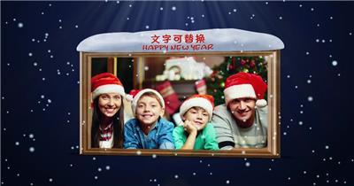ED简单的飘雪圣诞节制作 EDIUS模板 圣诞节 EDIUS素材 节日模版