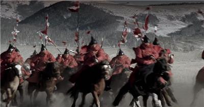-古代战争系列款Y5311古代战场骑马征战战争 led视频素材库
