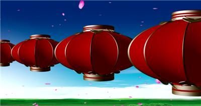 -富贵牡丹系列款Y1092灯笼牡丹花瓣 led视频素材库