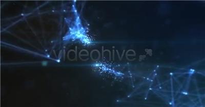 11070 抽象几何点线交汇标志展示 ae特效下载 AE视频特效 LOGO标志ae源文件