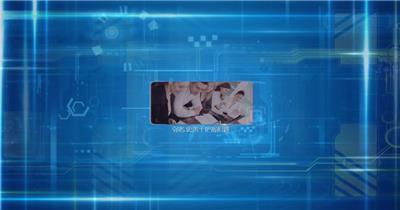 edius干净简洁蓝色科技的企业宣传模板 edius模板免费下载 edius源文件