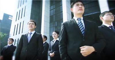 307团队商务成功人士谈话办公区会议室开会... 宣传片视频