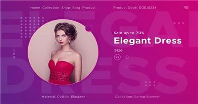 12417 时尚服装商店促销 免费AE模板片头视频模板, AE素材,国外AE源文件下载 片头ae素材
