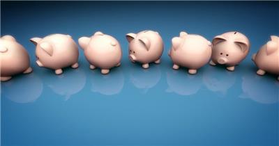 小猪储钱罐089HDBackground6动态背景视频背景 视频动态背景 虚拟背景视频