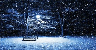 M03唯美雪景 下雪 冰雪世界
