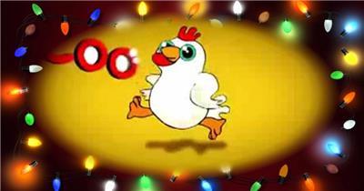A209-小鸡动感节奏视频(有音乐) 摇滚背景