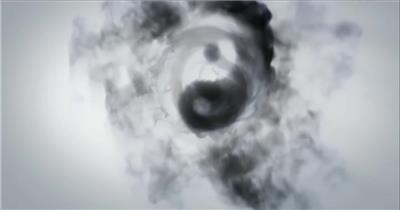 YM3631水墨八卦(有音乐) 武术太极八卦 中国风视频 背景视频