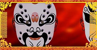YM1143京剧脸谱戏曲背景中国风变脸 戏剧 戏台 脸谱 中国风视频 背景视频