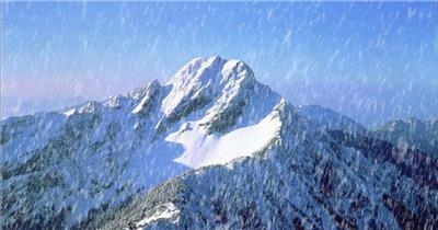 1022-下雪(背景为雪山-特别壮观)旅游风光类