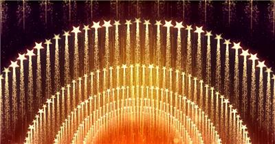 D98-金色霓虹节奏动感变换闪烁放射 (1) 颁奖开场年会