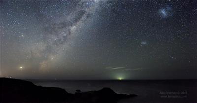 延时摄影:海洋夜晚的星空(Ocean_Sky)延时摄影拍摄视频