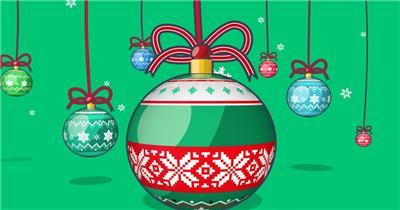 YM4842创意欢快节奏圣诞快乐礼物(有音乐) 摇滚背景