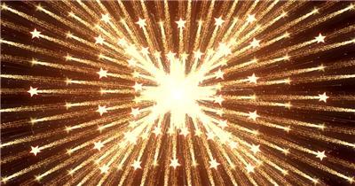 D98-金色霓虹节奏动感变换闪烁放射 (6) 颁奖开场年会