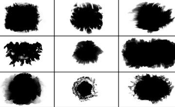 9组水墨滴落晕开扩散动画4K视频素材7