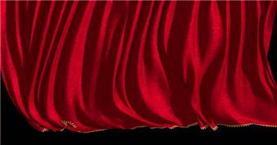 红色舞台幕布11