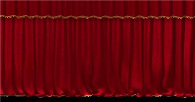 红色舞台幕布13