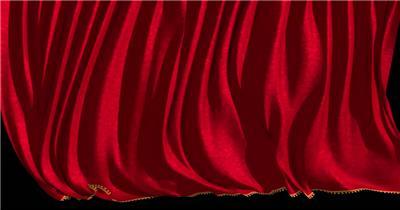 红色舞台幕布10