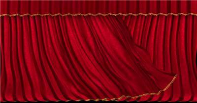 红色舞台幕布9