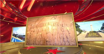 大气震撼三维喜迎国庆片头片尾AE模板