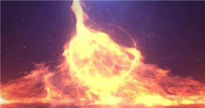 火焰燃烧标志AE模板
