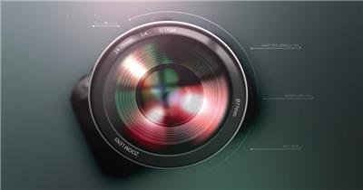 电影摄像机相机片头创意快门式AE模板