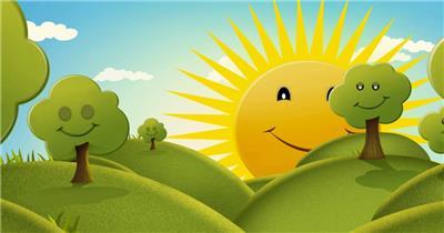 D217-10 彩虹 太阳公公卡通素材