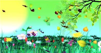 D217-2 彩虹 太阳公公卡通素材
